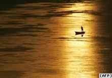 Закат на реке Сунгари, Китай